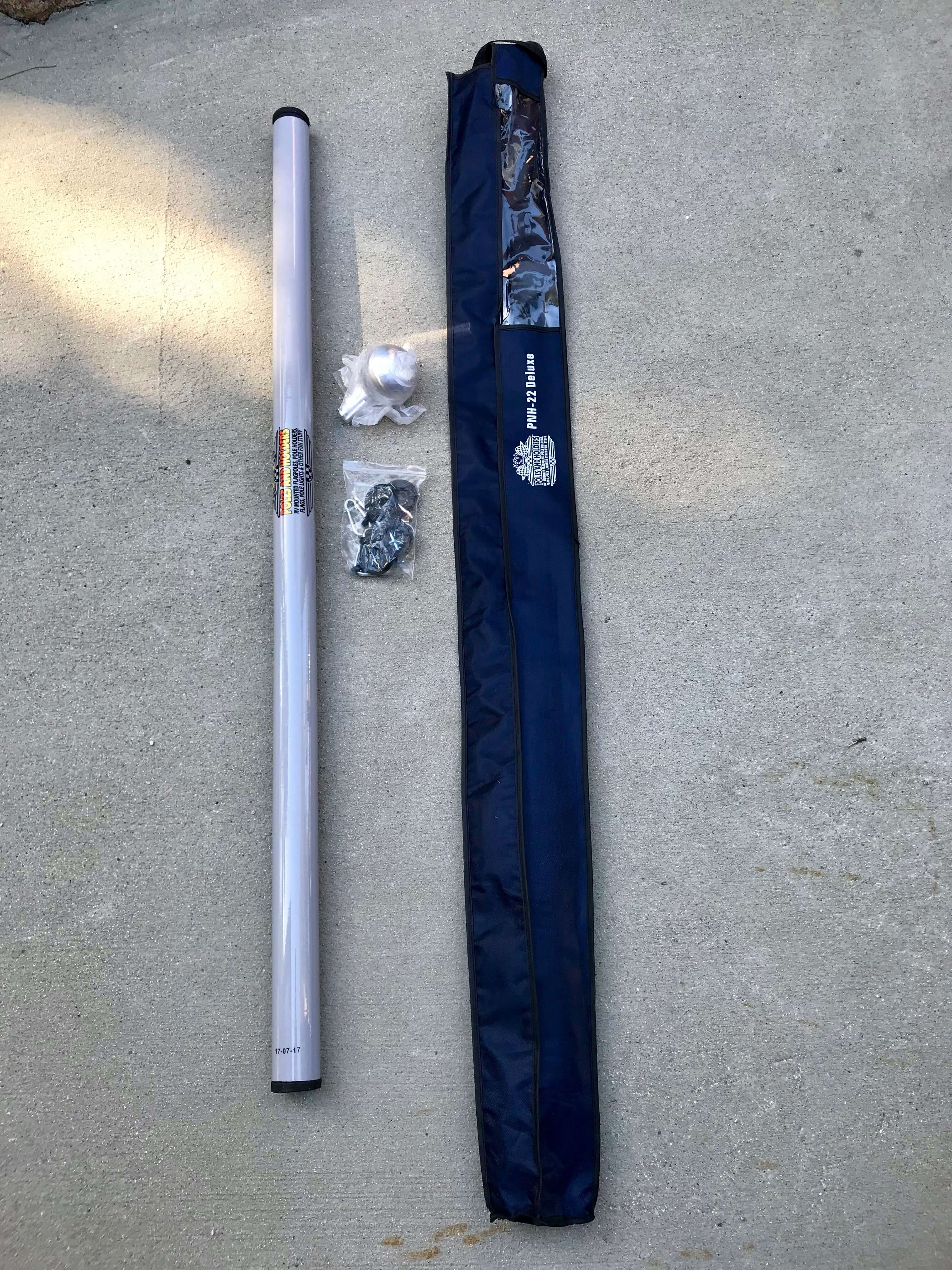Deluxe 22-Foot Heavy Duty Fiberglass Flagpole.