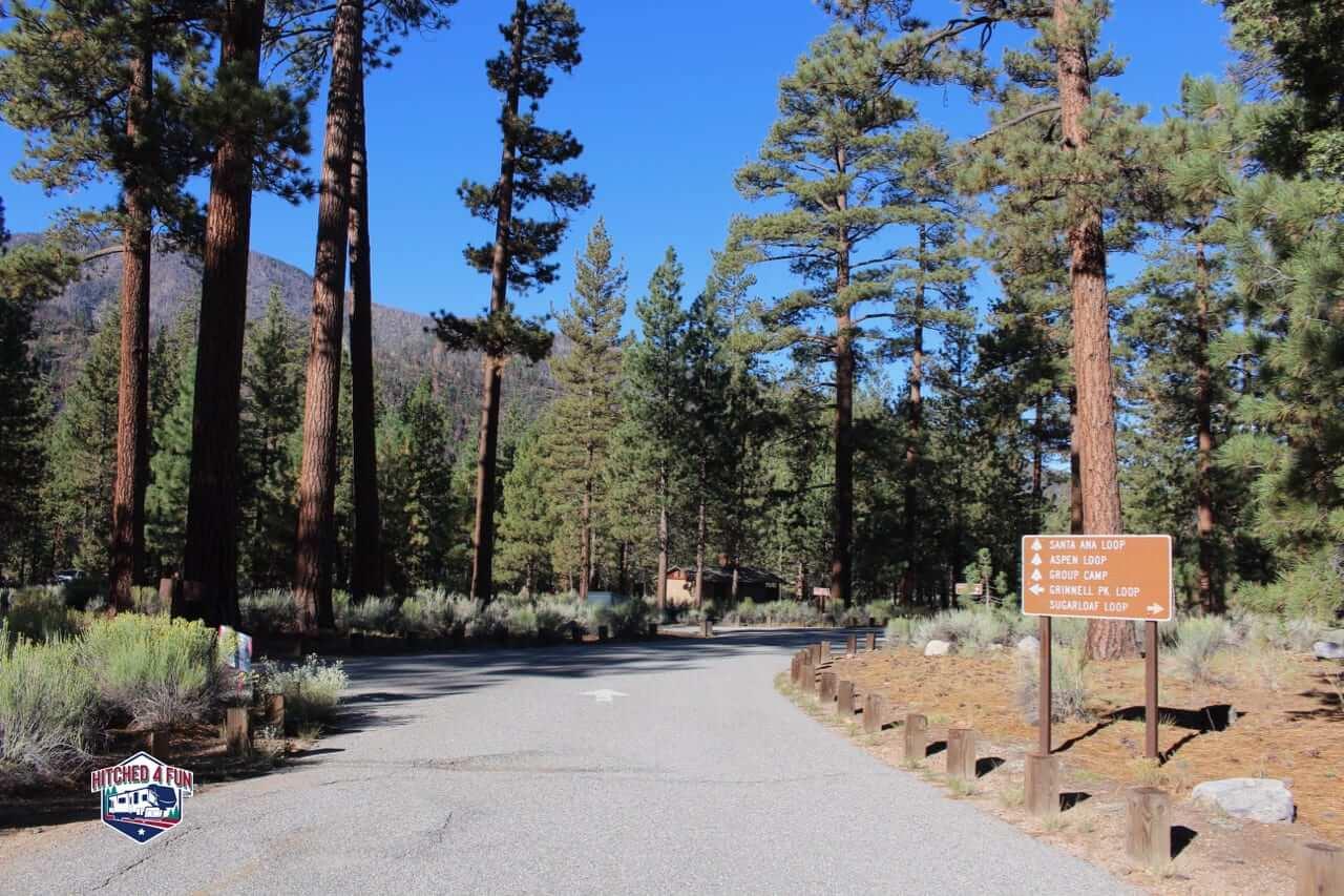 Heart Bar Campground Entrance.