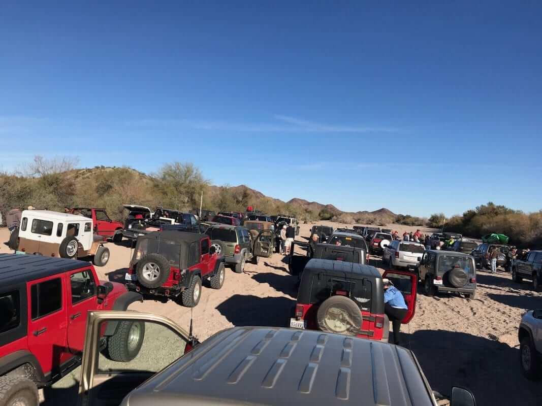 Quartzfest 2019 Jeep Tour in the Wash