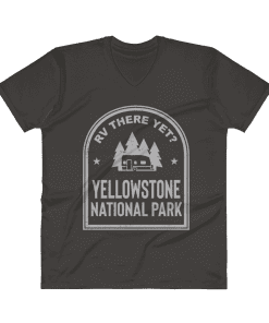 RV There Yet? Yellowstone National Park V-Neck (Men's) Smoke