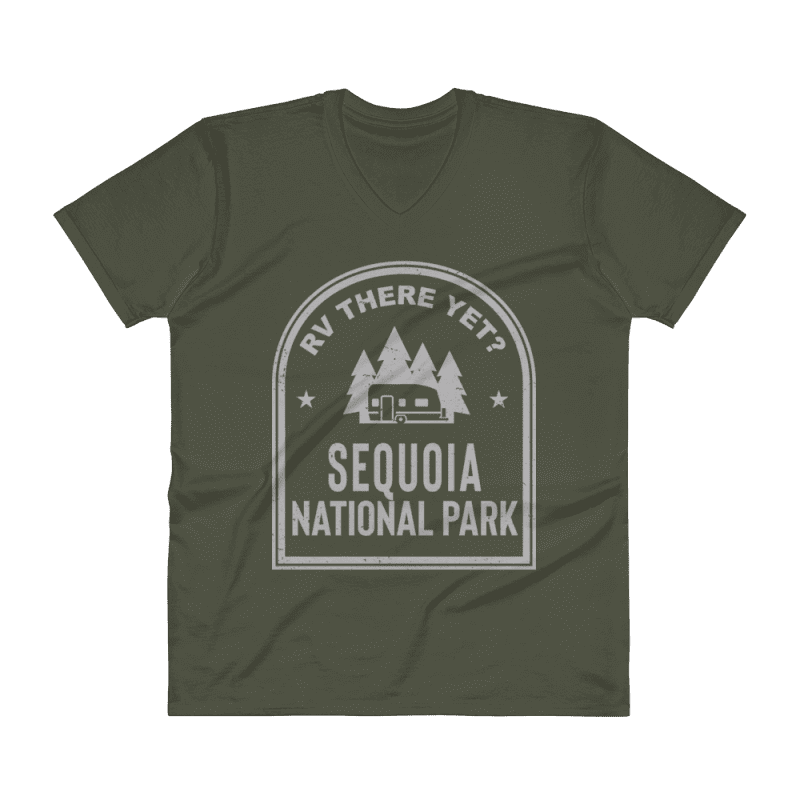 RV There Yet? Sequoia National Park V-Neck (Men's) City Green