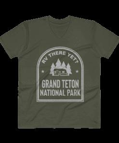 RV There Yet? Grand Teton National Park V-Neck (Men's) City Green