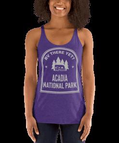 RV There Yet? Acadia National Park Racerback Tank (Women's) Purple Rush