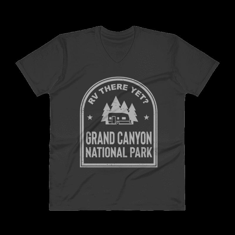RV There Yet? Grand Canyon National Park V-Neck (Men's) Black