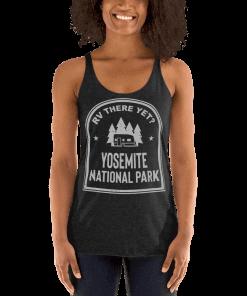 RV There Yet? Yosemite National Park Racerback Tank (Women's) Vintage Black