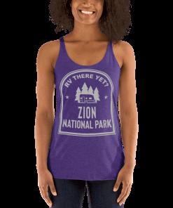 RV There Yet? Zion National Park Racerback Tank (Women's) Purple Rush