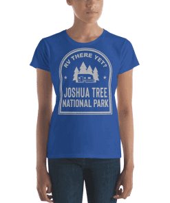RV There Yet? Joshua Tree National Park T-Shirt (Women's) Royal Blue