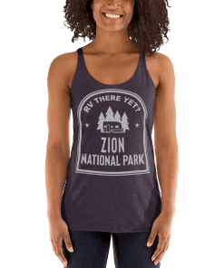 RV There Yet? Zion National Park Racerback Tank (Women's) Vintage Purple