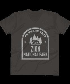 RV There Yet? Zion National Park V-Neck (Men's) Smoke