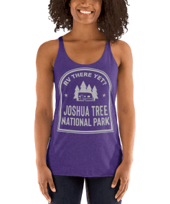RV There Yet? Joshua Tree National Park Racerback Tank (Women's) Purple Rush