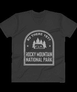 RV There Yet? Rocky Mountain National Park V-Neck (Men's) Black