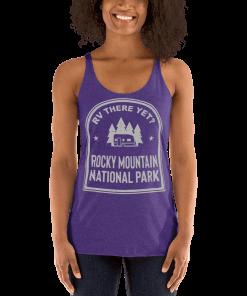 RV There Yet? Rocky Mountain National Park Racerback Tank (Women's) Purple Rush