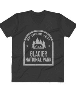 RV There Yet? Glacier National Park V-Neck (Men's) Black