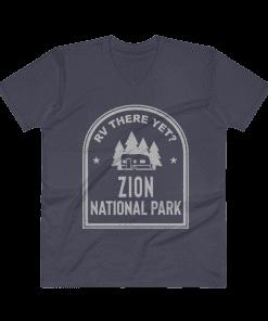 RV There Yet? Zion National Park V-Neck (Men's) Navy