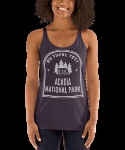 RV There Yet? Acadia National Park Racerback Tank (Women's) Vintage Purple