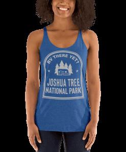 RV There Yet? Joshua Tree National Park Racerback Tank (Women's) Vintage Royal