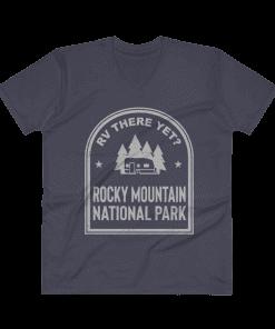 RV There Yet? Rocky Mountain National Park V-Neck (Men's) Navy