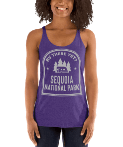 RV There Yet? Sequoia National Park Racerback Tank (Women's) Purple Rush