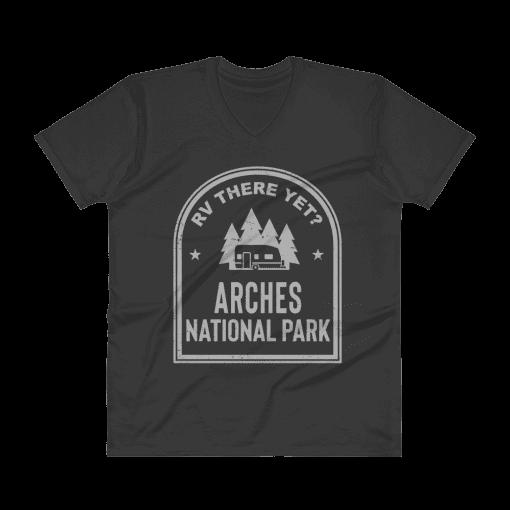 RV There Yet? Arches National Park V-Neck (Men's) Black