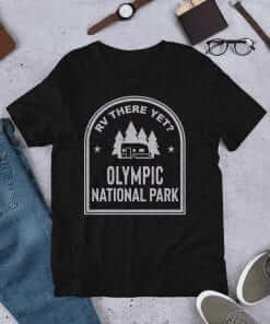 RV There Yet? Olympic National Park T-Shirt (Unisex) Black Heather