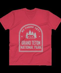 RV There Yet? Grand Teton National Park V-Neck (Men's) Red