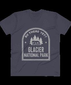 RV There Yet? Glacier National Park V-Neck (Men's) Navy
