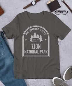 RV There Yet? Zion National Park T-Shirt (Unisex) Asphalt