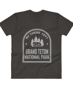 RV There Yet? Grand Teton National Park V-Neck (Men's) Smoke