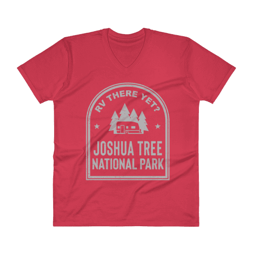 RV There Yet? Joshua Tree National Park V-Neck (Men's) Red