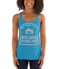 RV There Yet? Bryce Canyon National Park Racerback Tank (Women's) Vintage Turquoise