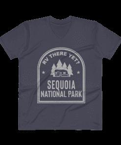 RV There Yet? Sequoia National Park V-Neck (Men's) Navy