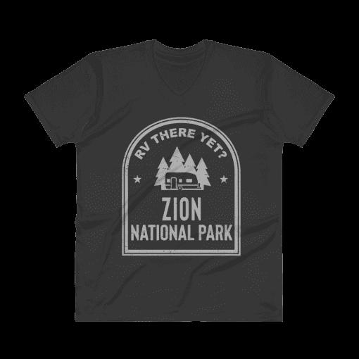 RV There Yet? Zion National Park V-Neck (Men's) Black