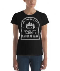 RV There Yet? Yosemite National Park T-Shirt (Women's) Black