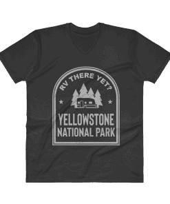 RV There Yet? Yellowstone National Park V-Neck (Men's) Black