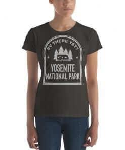RV There Yet? Yosemite National Park T-Shirt (Women's) Smoke