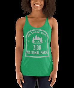 mockup-e6b3fd29.RV There Yet? Zion National Park Racerback Tank (Women's) Envy