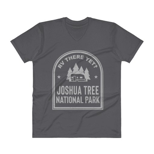 RV There Yet? Joshua Tree National Park V-Neck (Men's) Charcoal