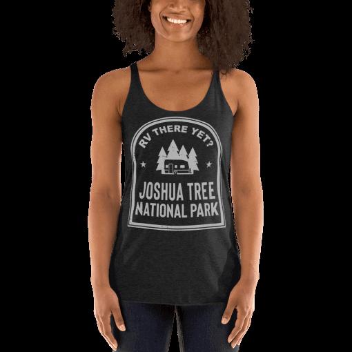 RV There Yet? Joshua Tree National Park Racerback Tank (Women's) Vintage Black