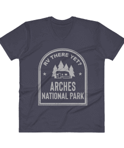 RV There Yet? Arches National Park V-Neck (Men's) Navy