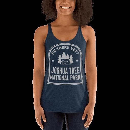RV There Yet? Joshua Tree National Park Racerback Tank (Women's) Vintage Navy