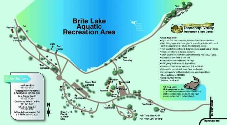 Brite Lake Map 1