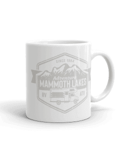 RV Destination Mammoth Lakes Camp Mug 11oz Handle Right
