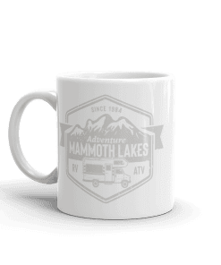 RV Destination Mammoth Lakes Camp Mug 11oz Handle Left