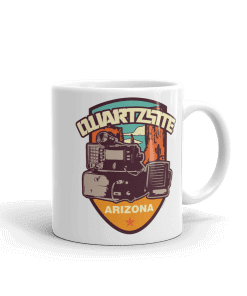 RV Destination Quartzsite Ham Radio Camp Mug 11 oz Handle Right
