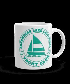 Arrowbear Lake Yacht Club Camp Mug 11 oz Handle Right