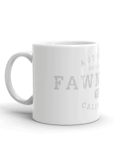 Authentic Fawnskin Camp Mug 11oz Handle Left