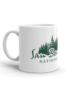 Authentic San Bernardino National Forest Camp Mug 11oz Handle Left