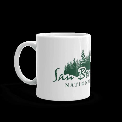 Authentic San Bernardino National Forest Camp Mug 11oz Handle Left