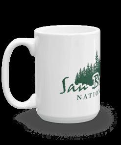 Authentic San Bernardino National Forest Camp Mug 15oz Handle Left