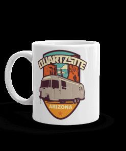 RV Destination Quartzsite Airstream Camp Mug 11 0z Handle Left
